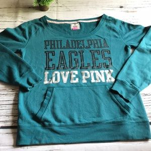 NFL Pink Phila Eagles sweatshirt in Large